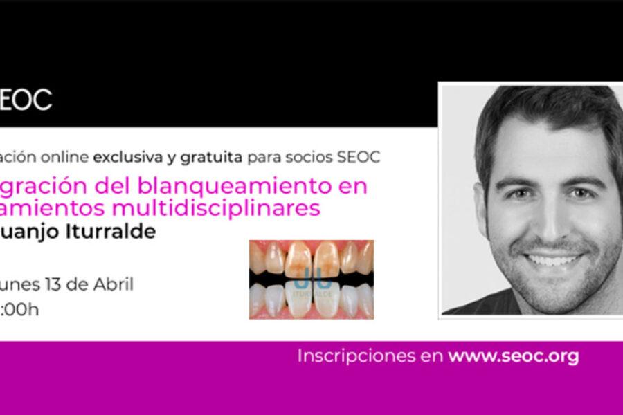 El Dr. Iturralde imparte una formación online sobre blanqueamiento dental