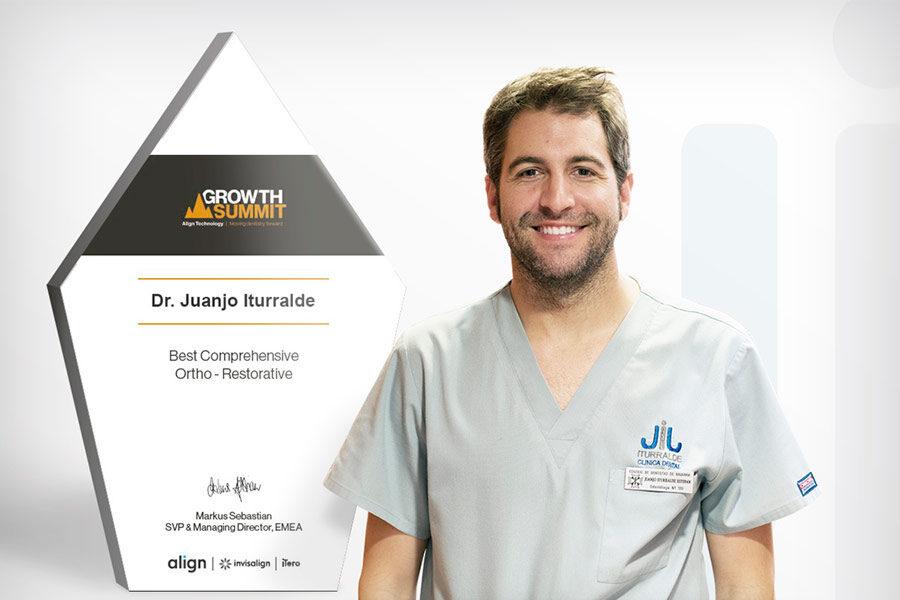 Invisalign concede al Dr. Juanjo Iturralde el Premio Internacional al mejor tratamiento multidisciplinar 2019/20